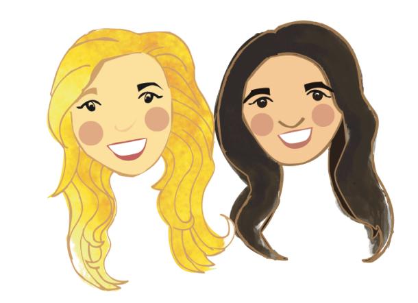 Cartoon Alysse & Kate