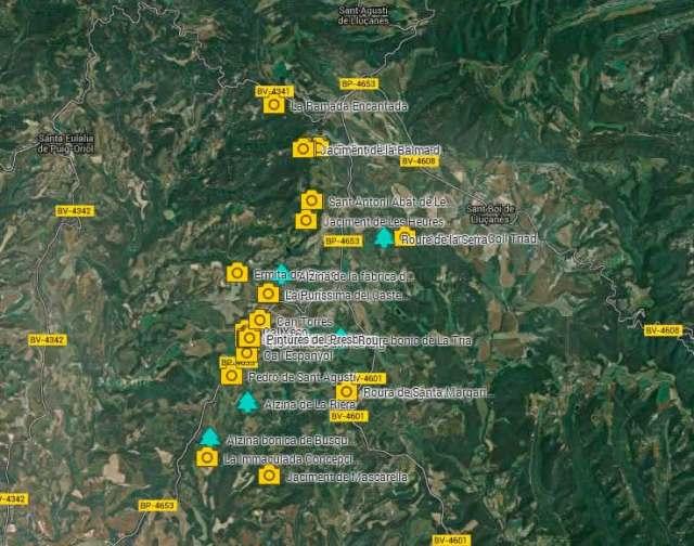 mapa llocs Perafita