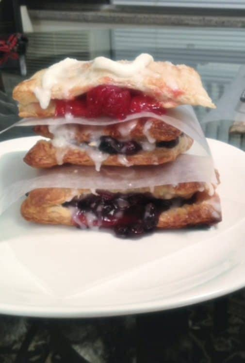 Easy Blueberry and Cherry Hand Pies