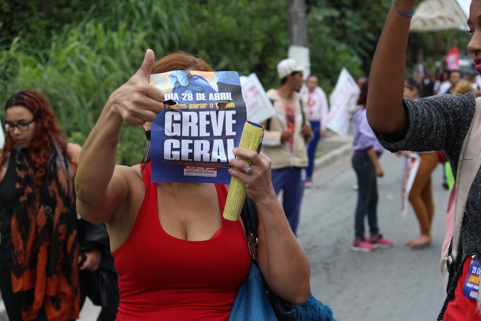 """[ATUALIZADO] Greve Geral: Periferias marcham contra """"reformas"""" Trabalhista e da Previdência"""