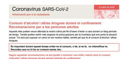 recomanacions drogues coronavirus