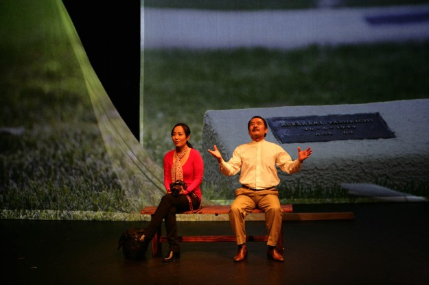 Actors Arisa Yura and Kuni Hashimoto are in my theatre production Yasukichi Murakami - Through a Distant Lens. Like me, they are part of post -war Japanese diaspora in Australia. We tell the story of Yasukichi Murakami and my search of his Lost photographs.