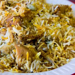 Hyderabadi chicken biryani, Garrett Ziegle (image via Creative Commons)
