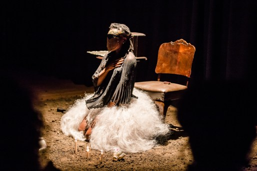 A still from Sethembile Msezane's 'Excerpts from the Past'. Image credit: Bryony Jackson