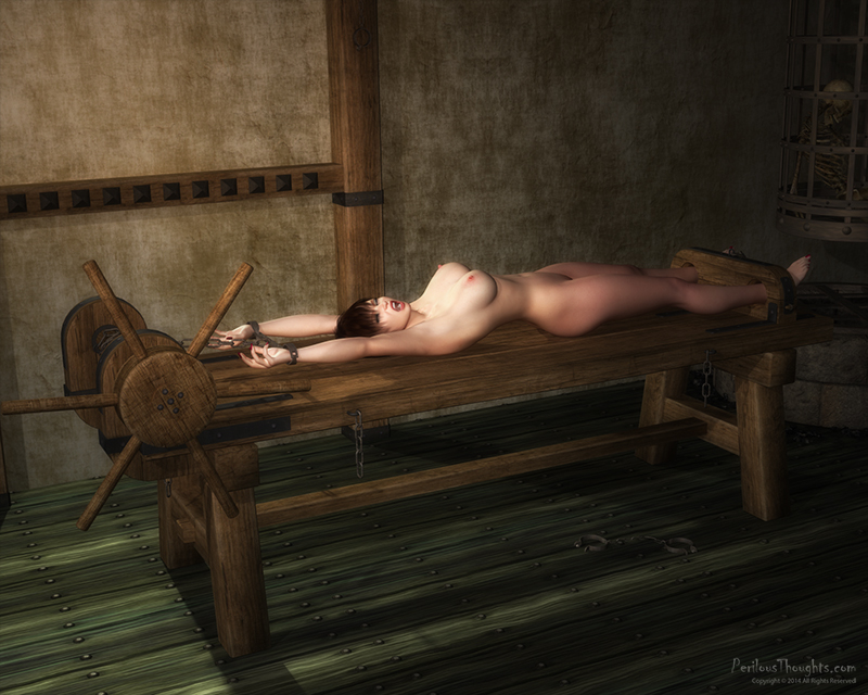 oiled nude women tortured on rack