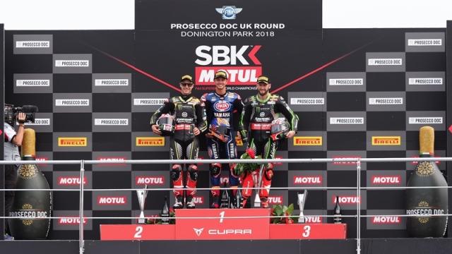 Race 1 WSBK Donington Park 2018 Van Der Mark
