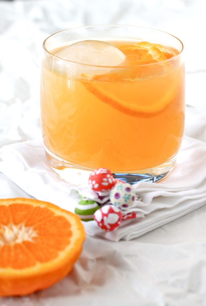 bourbon and tangerine cocktail
