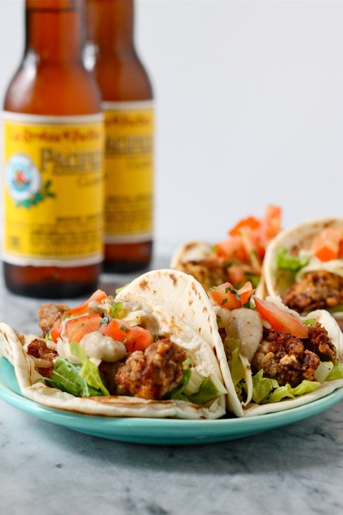 chicken fried steak tacos