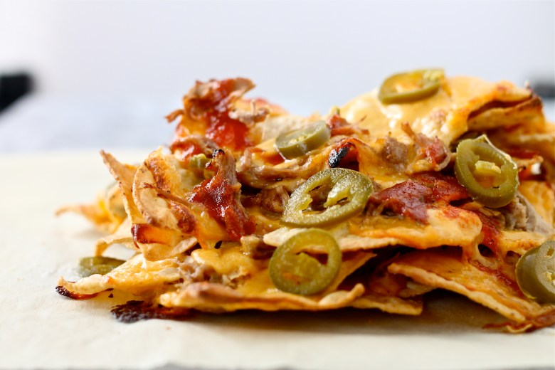 Carolina Pulled Pork Nachos with Beer Cheese Queso