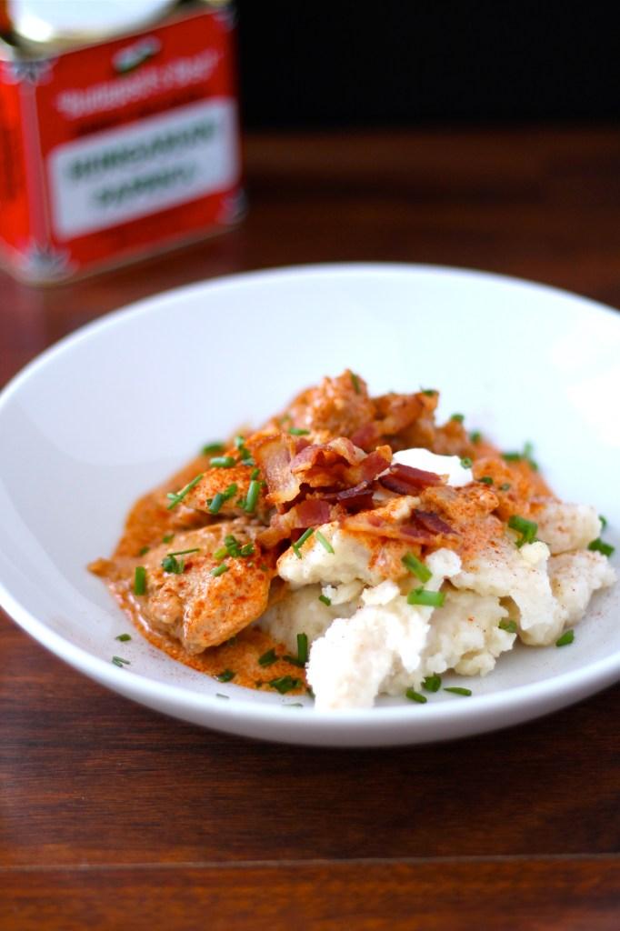 Chicken Paprika with Spaetzle