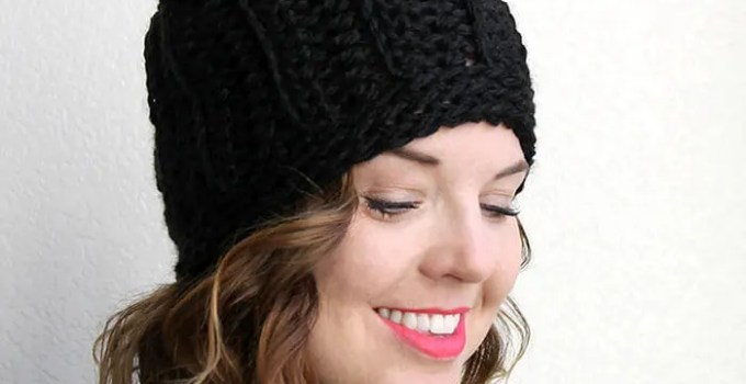 Chunky Ribbed Slouch Hat – Free Crochet Pattern