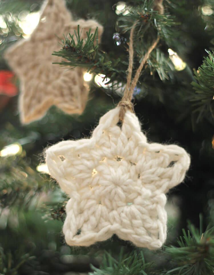 Free Crochet Patterns Christmas Star : Crochet Star Ornaments ? Free Pattern