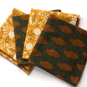 Block print Indian Cotton Napkins