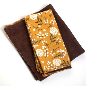 Yellow Floral Brown Napkins