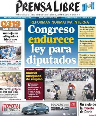 Portada de Prensa Libre Destaca Reclutamiento Masivo de PersoTemp(R)