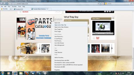 klik kanan di parts catalogue