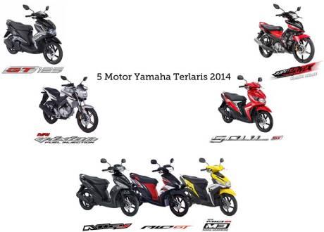 5 Motor Terlaris Yamaha 2014
