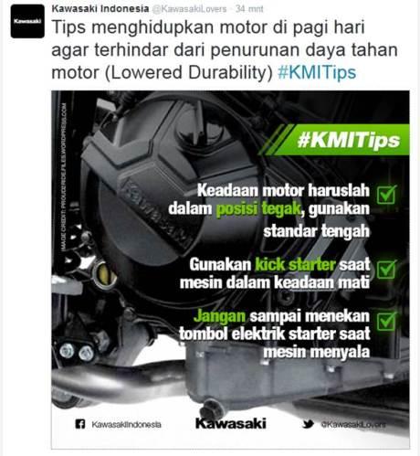Tips Menghidupkan motor dipagi hari Dari Kawasaki ini bikin Pemilik Ninja Bingung