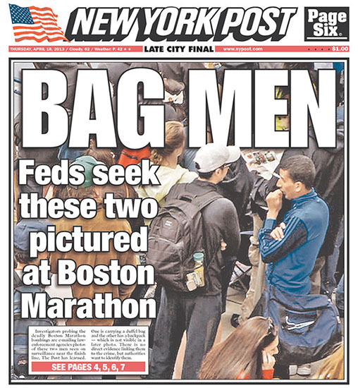 NY Post Uses Photo of Innocent Teen as Boston Bombing Cover Photo newyorkpost