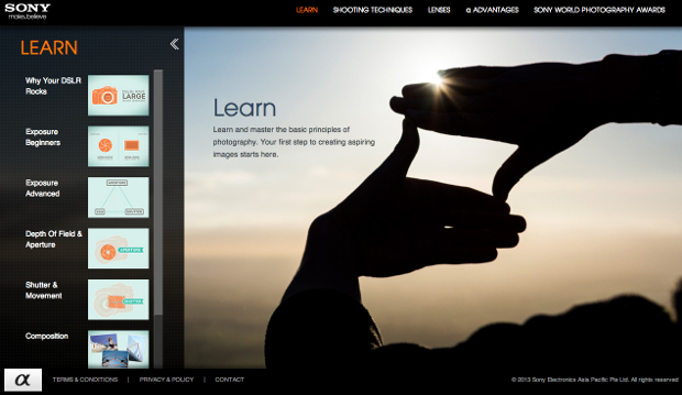 Sony Launches Helpful Tutorial Website for New Photographers sonylearn1