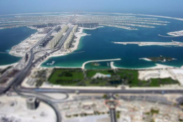 Palm Islands in Dubai by Richard Silver