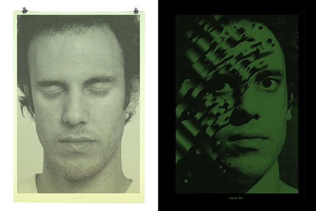 These Binary Prints by Alex Trochut Show Different Portraits in Light and Darkness binary3