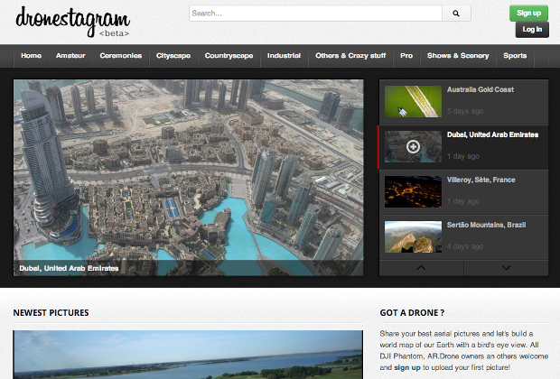 Dronestagr.am: The Social Photo Sharing Network for Drone Photographers dronestagram1