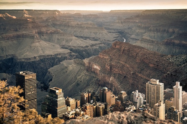 Photos of New York City Inside the Grand Canyon Contrast Emptiness and Density merge4