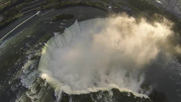 Quad Copter Camera Flies Over Niagara Falls, Captures Breathtaking Views nigara