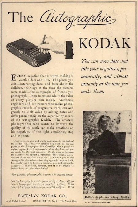 Blast from the Past: Kodaks Autographic Cameras Let You Sign Your Negatives kodakautographic3