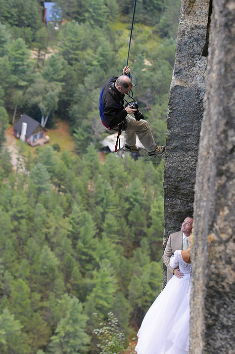 This Photographer Does Photo Shoots on a 350ft Cliff
