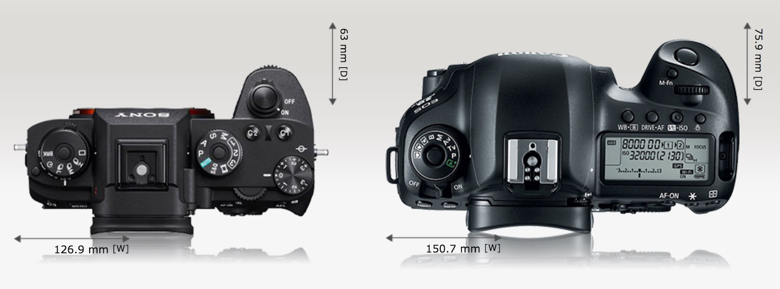 Thrifty Battery Size Sony Vs Canon Mark Mark Ii Sony A7 Vs A7ii Vs A7rii Sony A7 Vs A7ii Comparison And When You Put It Next To Massive Canon Mark Lookslike A We Compare Sizes dpreview Sony A7 Vs A7ii