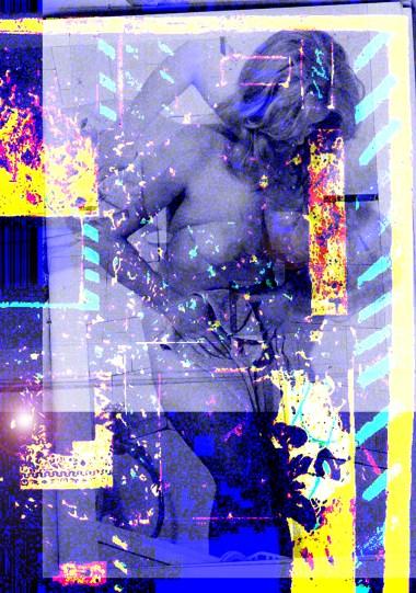 Nude - Woman through glass