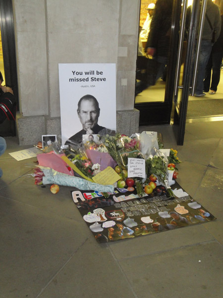 Steve Jobs Apple Store London Memorial