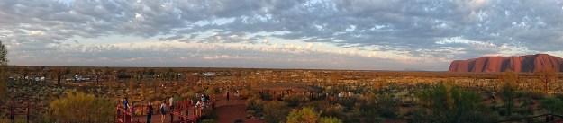 morning uluru panorama