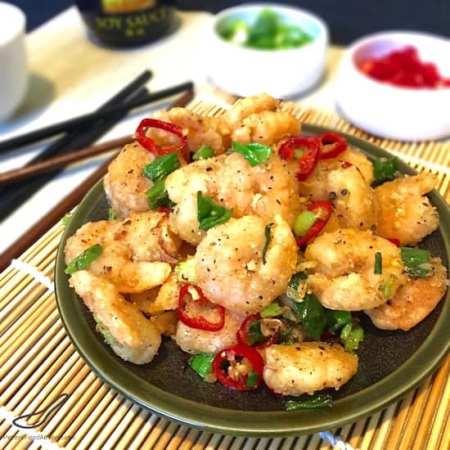 Salt and Pepper Shrimp recipe no shell