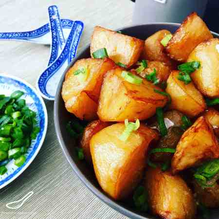 Chinese Roast Potatoes in a Master Stock