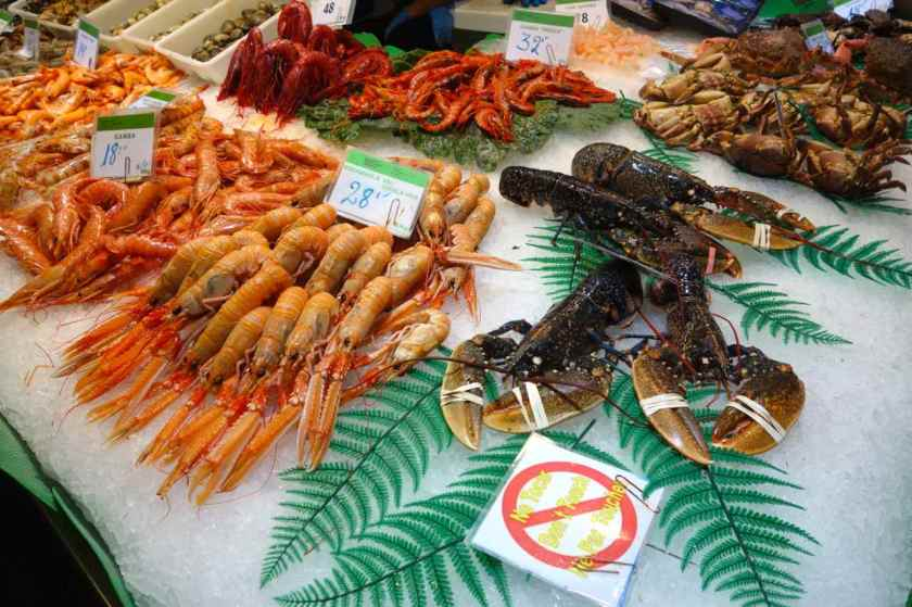 La Boqueria Markt, Barcelona, La Boqueria, Meeresfrüchte II
