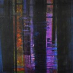 jetty 1 projection 80x100 mixed media on canvas