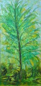 yellow_green _ tree 60cmx100cm mm resin canvas 2009