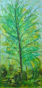 yellow_green _ tree 60cmx100cm mm resin canvas 2009