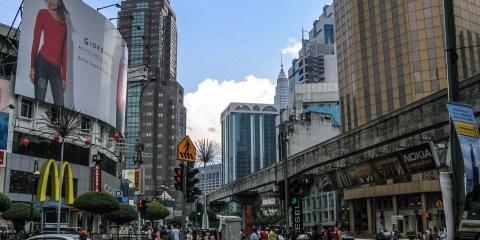 Les buildings de Kuala Lumpur. Malaisie, février 2006.