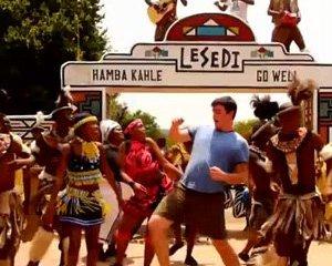 Matt Harding danse le diski en Afrique du Sud