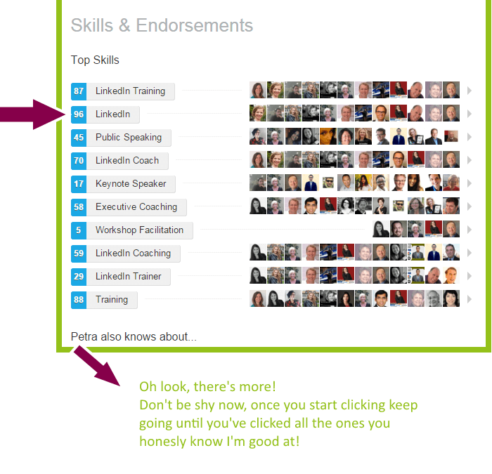 I need to talk to you about LinkedIn Endorsements trust me!