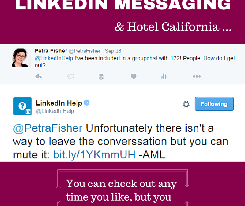 How to use LinkedIn Messaging without getting stuck