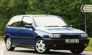 Blue Fiat Tipo 16v 3-door