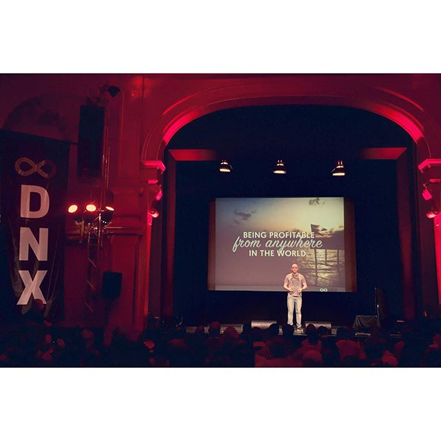 At DNX Global - the digital nomad conference, where @noeltock shares his insights on how to be profitable from anywhere in the world, how to find your flow. #HumanMade