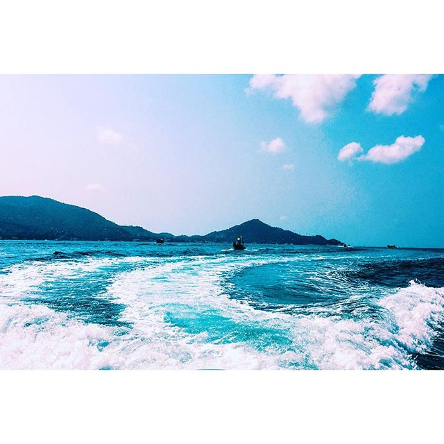 I've only ever missed home the way I currently miss Thailand. A #latergram from the HM crew speedboat snorkeling trip 3 weeks ago. Let's go back. #thailand #island #snorkeling #sea #skyline #blue #kohtaoisland #KohTao #kohnangyuan