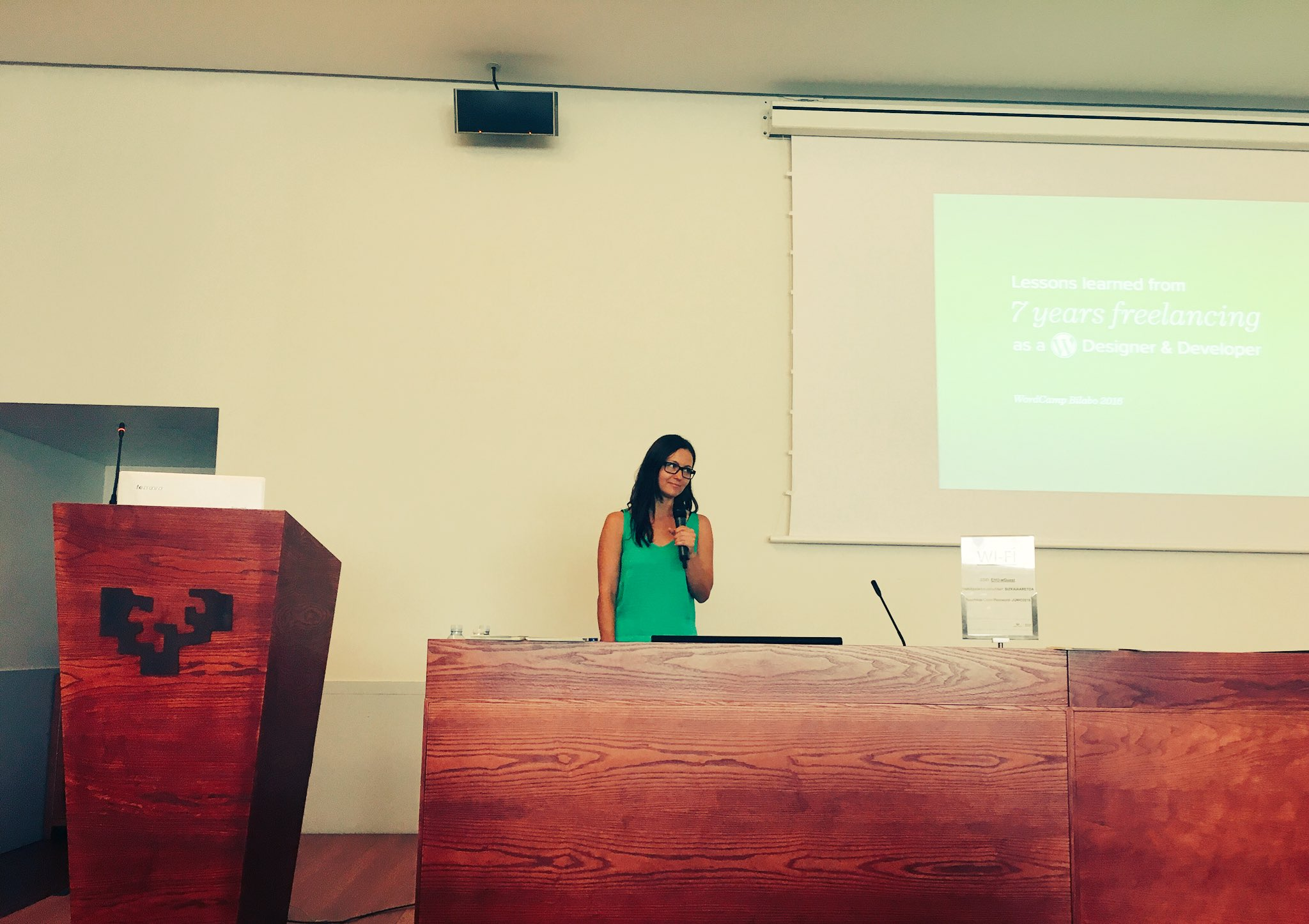 Sonja taking the stage at…
