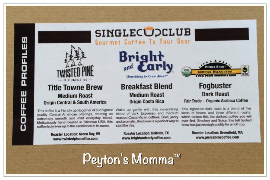 Single Cup Club K CUp Gourmet Coffee